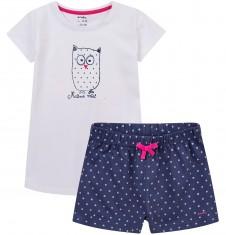 Piżama z krótkimi spodenkami dla dziewczynki 9-13 lat D71V504_1