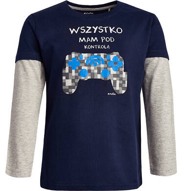 Endo - T-shirt z długim rękawem dla chłopca 9-13 lat C82G594_1