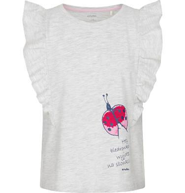 Endo - Bluzka z krótkim rękawem dla dziewczynki 9-13 lat D91G586_1