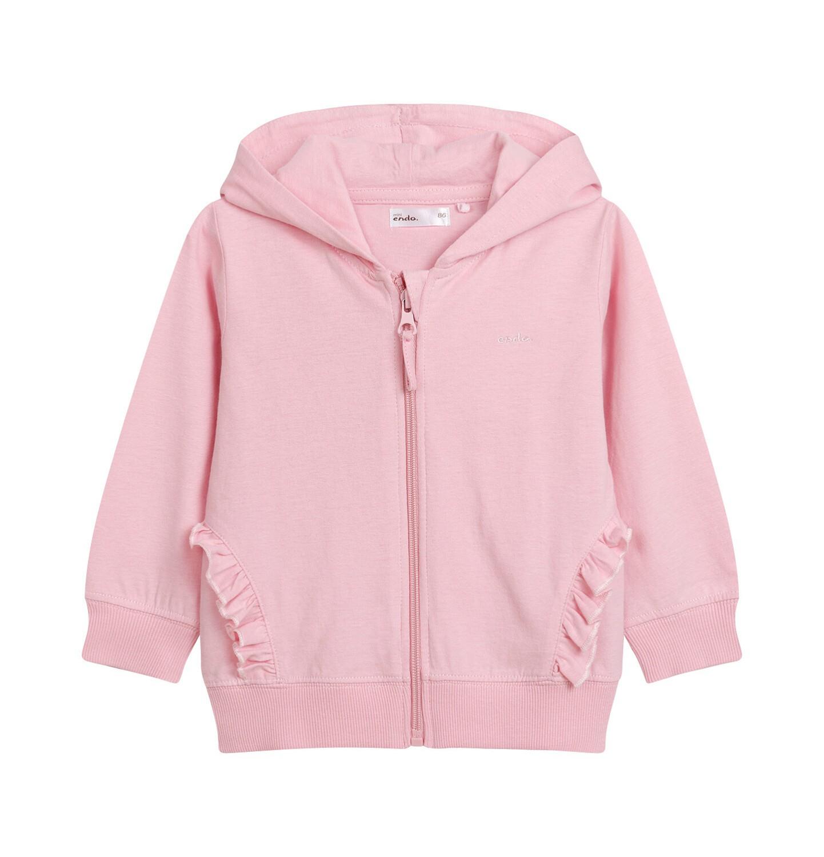 Endo - Rozpinana bluza z kapturem dla dziecka do 2 lat, z uszami pandy, różowa N03C007_1