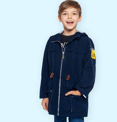 Endo - Przejściowa kurtka parka z kapturem dla chłopca, granatowa z elementami odblaskowymi, 2-8 lat C05A004_1,2