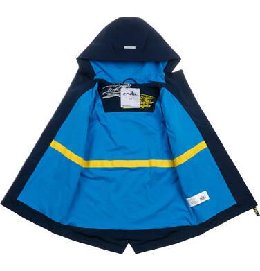Endo - Przejściowa kurtka parka z kapturem dla chłopca, granatowa z elementami odblaskowymi, 2-8 lat C05A004_1,3