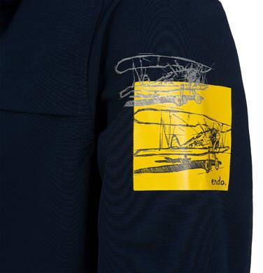 Endo - Przejściowa kurtka parka z kapturem dla chłopca, granatowa z elementami odblaskowymi, 2-8 lat C05A004_1,5