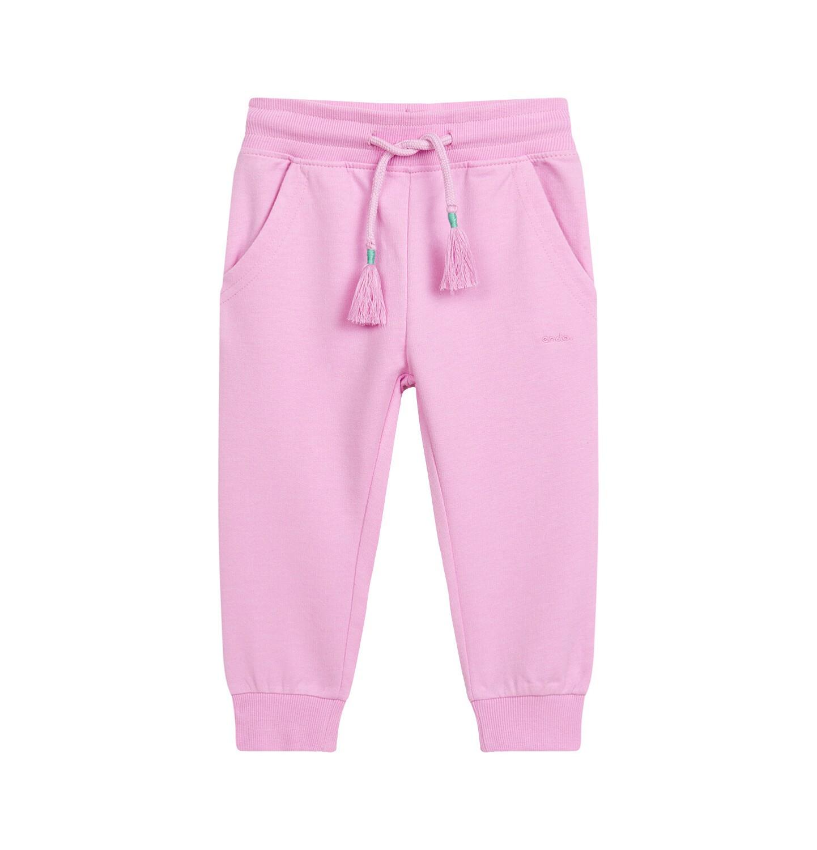Endo - Spodnie dresowe dla dziecka do 2 lat, różowe N03K015_1