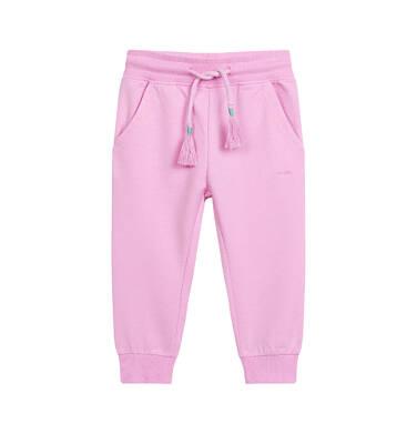 Endo - Spodnie dresowe dla dziecka do 2 lat, różowe N03K015_1 23