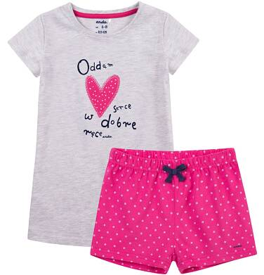 Endo - Piżama z krótkimi spodenkami dla dziewczynki 4-8 lat D71V006_1