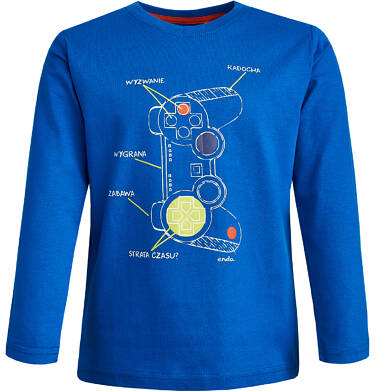 Endo - T-shirt z długim rękawem dla chłopca 9-13 lat C82G595_1