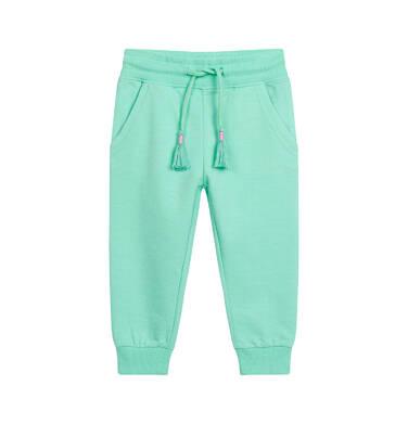 Endo - Spodnie dresowe dla dziecka do 2 lat, miętowe N03K015_2