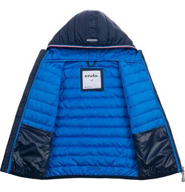 Endo - Przejściowa kurtka z kapturem dla chłopca, granatowa z elementami odblaskowymi, 2-8 lat C05A006_1 6