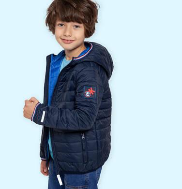Endo - Przejściowa kurtka z kapturem dla chłopca, granatowa z elementami odblaskowymi, 2-8 lat C05A006_1 13