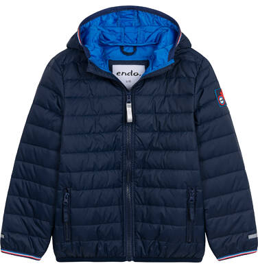 Endo - Przejściowa kurtka z kapturem dla chłopca, granatowa z elementami odblaskowymi, 2-8 lat C05A006_1 31