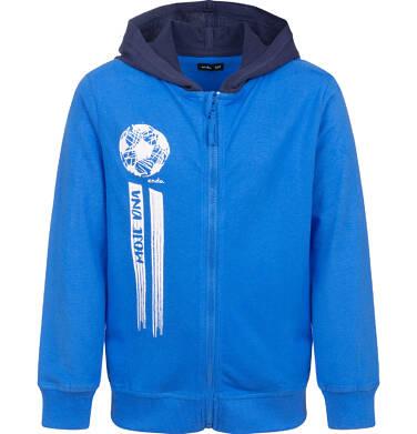 Bluza rozpinana z kapturem, niebieska, 9-13 lat C04C015_1