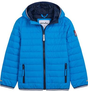 Endo - Przejściowa kurtka z kapturem dla chłopca, niebieska z elementami odblaskowymi, 2-8 lat C05A006_2 22