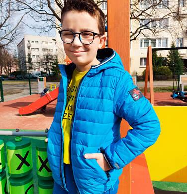 Endo - Przejściowa kurtka z kapturem dla chłopca, niebieska z elementami odblaskowymi, 2-8 lat C05A006_2 16