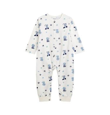Endo - Pajac dla dziecka do 2 lat, deseń w pieski, z napami na całej długości N03N002_1