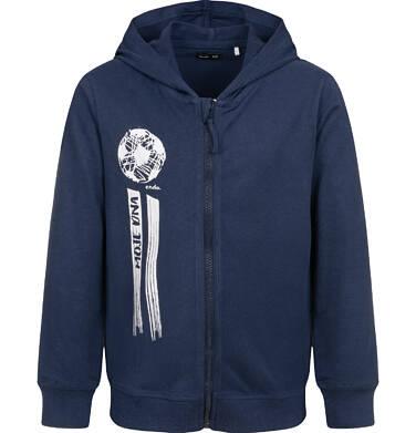 Bluza rozpinana z kapturem, granatowa, 9-13 lat C04C015_2