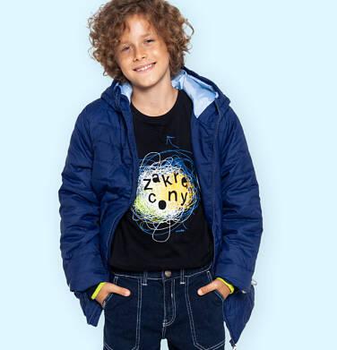 Endo - Przejściowa kurtka z kapturem dla chłopca, granatowa z elementami odblaskowymi, 9-13 lat C05A009_1 73