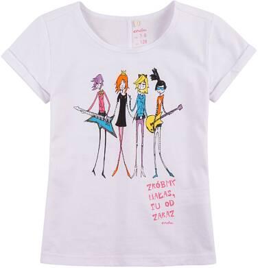 Endo - Bluzka z krótkim podwiniętym rękawem dla dziewczynki 4-8 lat D71G045_1