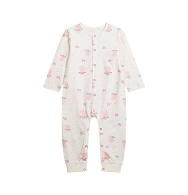Endo - Pajac dla dziecka do 2 lat, deseń w kotki, z napami na całej długości N03N004_1
