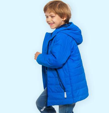 Endo - Przejściowa kurtka z kapturem dla chłopca, niebieska z elementami odblaskowymi, 9-13 lat C05A009_2 74