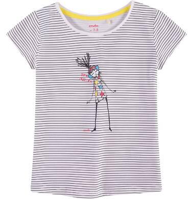 Endo - Bluzka z krótkim rękawem dla dziewczynki 4-8 lat D71G046_1