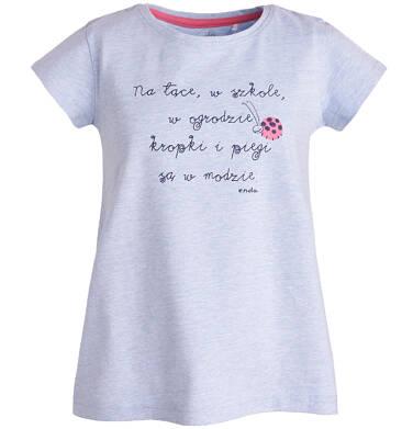 Endo - T-shirt z krótkim rękawem dla dziewczynki 9-13 lat D81G509_1