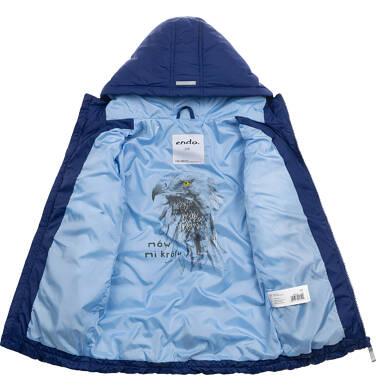 Endo - Przejściowa kurtka z kapturem dla chłopca, granatowa z elementami odblaskowymi, 2-8 lat C05A010_1 26