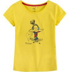 Bluzka z krótkim rękawem dla dziewczynki 9-13 lat D71G538_1