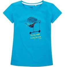 Bluzka z krótkim rękawem dla dziewczynki 9-13 lat D71G620_2