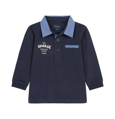 Koszulka polo z długim rękawem dla dziecka 0-3 lata N92G035_1
