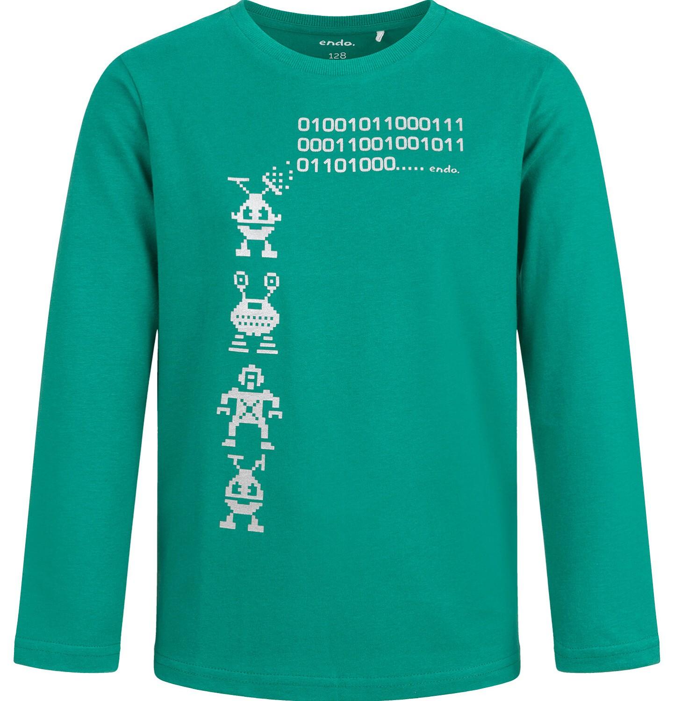 Endo - T-shirt z długim rękawem dla chłopca, zielony, 2-8 lat C04G048_1