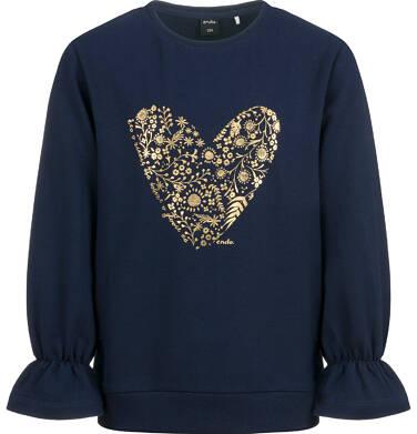 Bluza dla dziewczynki, z sercem, granatowa D04C040_1
