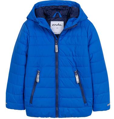 Endo - Przejściowa kurtka z kapturem dla chłopca, niebieska z elementami odblaskowymi, 2-8 lat C05A010_2 5