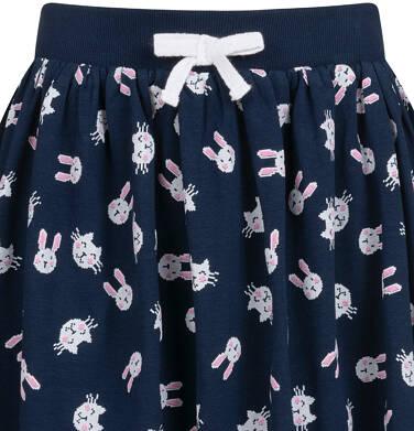 Endo - Spódnica dla dziewczynki, w króliki, granatowa, 9-13 lat D04J001_3 2