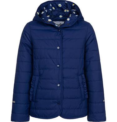 Endo - Przejściowa kurtka z kapturem dla dziewczynki, granatowa z elementami odblaskowymi, 9-13 lat D05A001_1,2