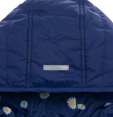 Endo - Przejściowa kurtka z kapturem dla dziewczynki, granatowa z elementami odblaskowymi, 9-13 lat D05A001_1,7