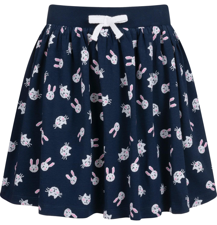 Endo - Spódnica dla dziewczynki, w króliki, granatowa, 2-8 lat D04J002_3