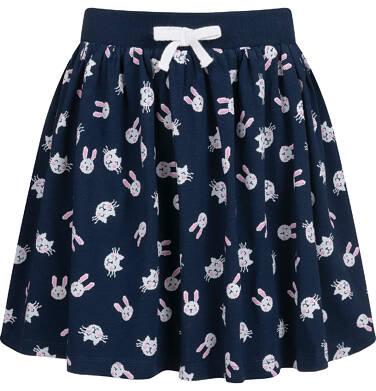 Spódnica dla dziewczynki, w króliki, granatowa, 2-8 lat D04J002_3