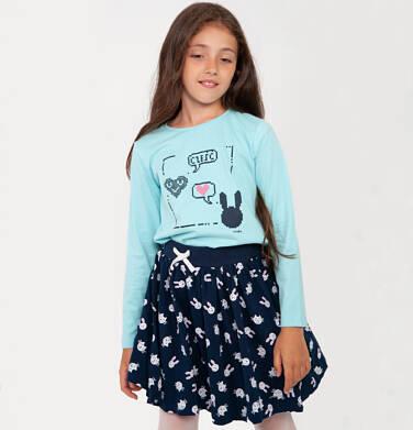 Endo - Spódnica dla dziewczynki, w króliki, granatowa, 2-8 lat D04J002_3,3