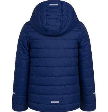 Endo - Przejściowa kurtka z kapturem dla dziewczynki, granatowa z elementami odblaskowymi, 2-8 lat D05A005_1,4