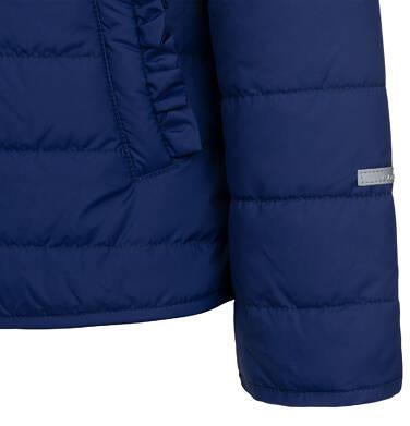 Endo - Przejściowa kurtka z kapturem dla dziewczynki, granatowa z elementami odblaskowymi, 2-8 lat D05A005_1,8