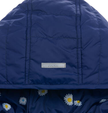 Endo - Przejściowa kurtka z kapturem dla dziewczynki, granatowa z elementami odblaskowymi, 2-8 lat D05A005_1,7