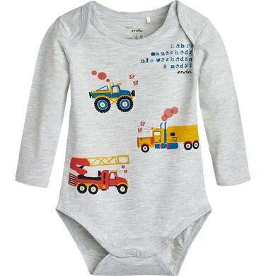 """Endo - """"Dobre samochody nie wychodzą z mody"""" Body dla niemowlaka 3-24 m-ce N82M017_1"""