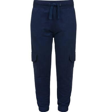 Endo - Spodnie dresowe dla chłopca, z bojówkowymi kieszeniami po bokach, ciemnogranatowe, 2-8 lat C03K024_3