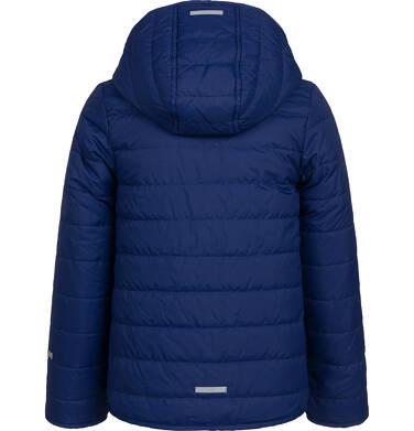 Endo - Przejściowa kurtka z kapturem dla dziewczynki, granatowa z elementami odblaskowymi, 9-13 lat D05A010_1,3