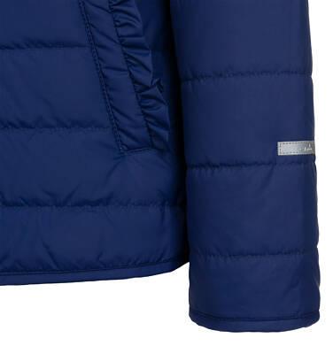 Endo - Przejściowa kurtka z kapturem dla dziewczynki, granatowa z elementami odblaskowymi, 9-13 lat D05A010_1,7