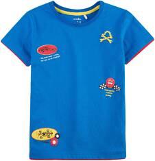 T-shirt z kontrastowym wykończeniem dla chłopca 9-13 lat C71G546_1