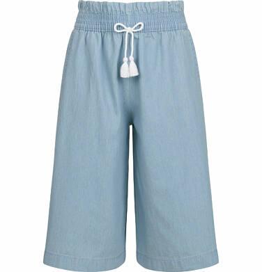 Endo - Spodnie jeansowe dla dziewczynki, kuloty, jasnoniebieskie, 9-13 lat D03K530_1