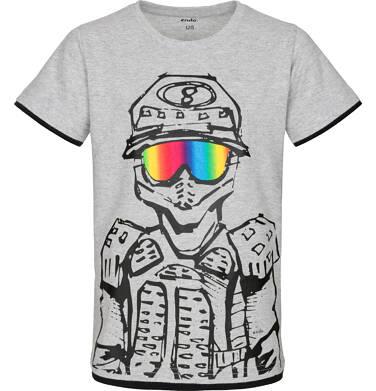 T-shirt z krótkim rękawem dla chłopca 9-13 lat C91G519_1