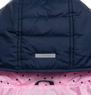 Endo - Przejściowa kurtka z kapturem dla dziewczynki, granatowa z elementami odblaskowymi, 9-13 lat D05A011_1,5